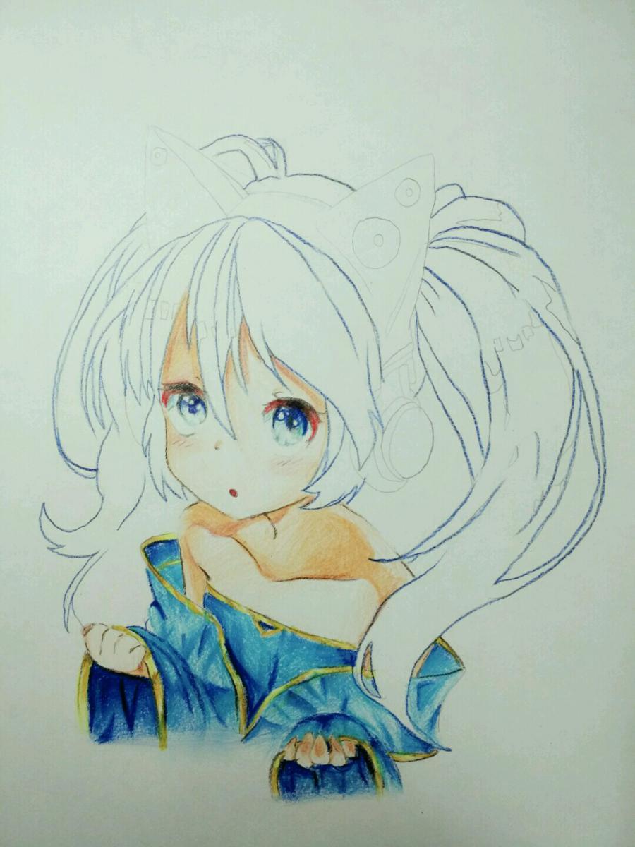 Рисуем аниме девочку в наушниках с кошачьими ушками - фото 14