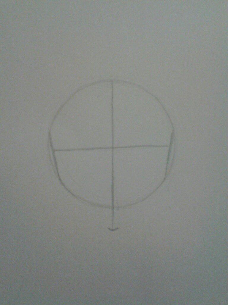 Как нарисовать аниме девушка кокетку простым карандашом - шаг 1