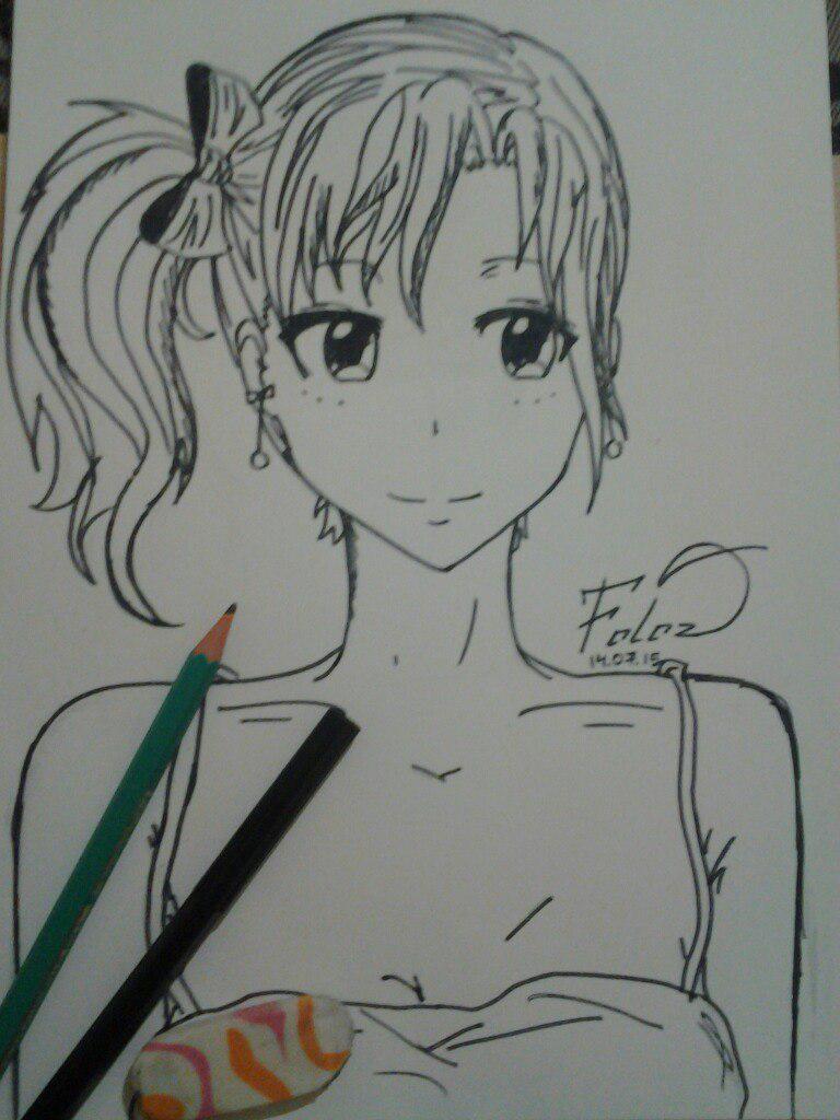 Как нарисовать аниме девушка кокетку простым карандашом - шаг 10