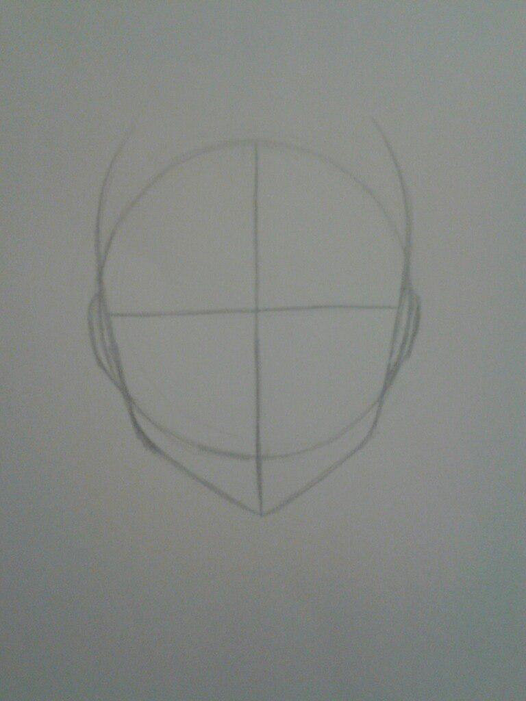 Как нарисовать аниме девушка кокетку простым карандашом - шаг 2