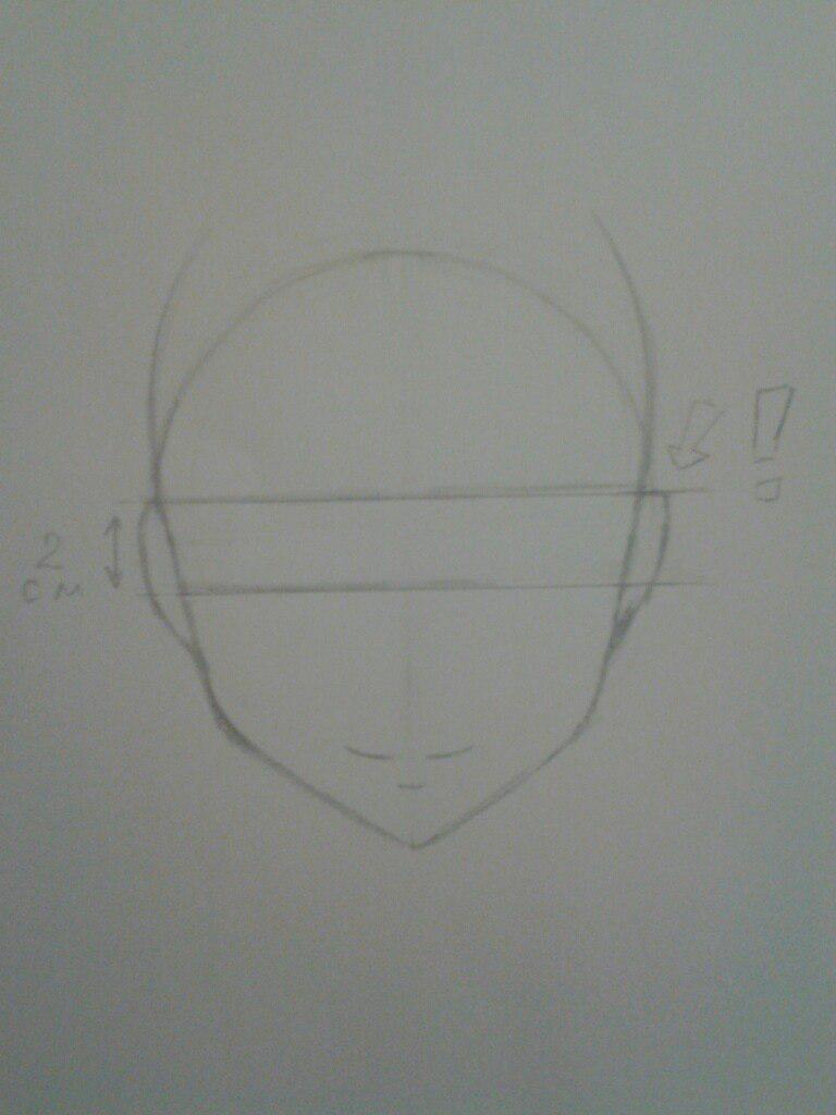Как нарисовать аниме девушка кокетку простым карандашом - шаг 3
