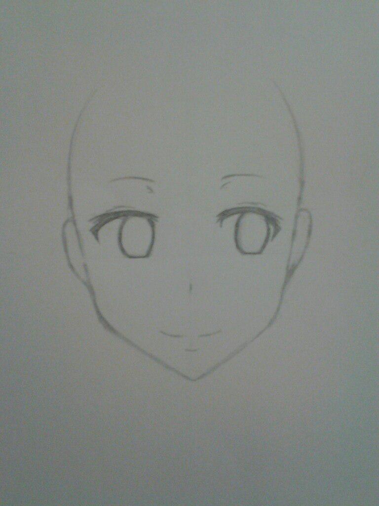 Как нарисовать аниме девушка кокетку простым карандашом - шаг 4