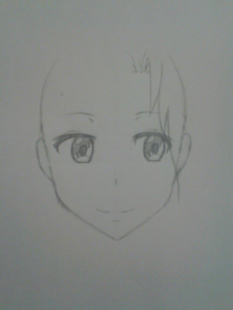 Как нарисовать аниме девушка кокетку простым карандашом - шаг 5