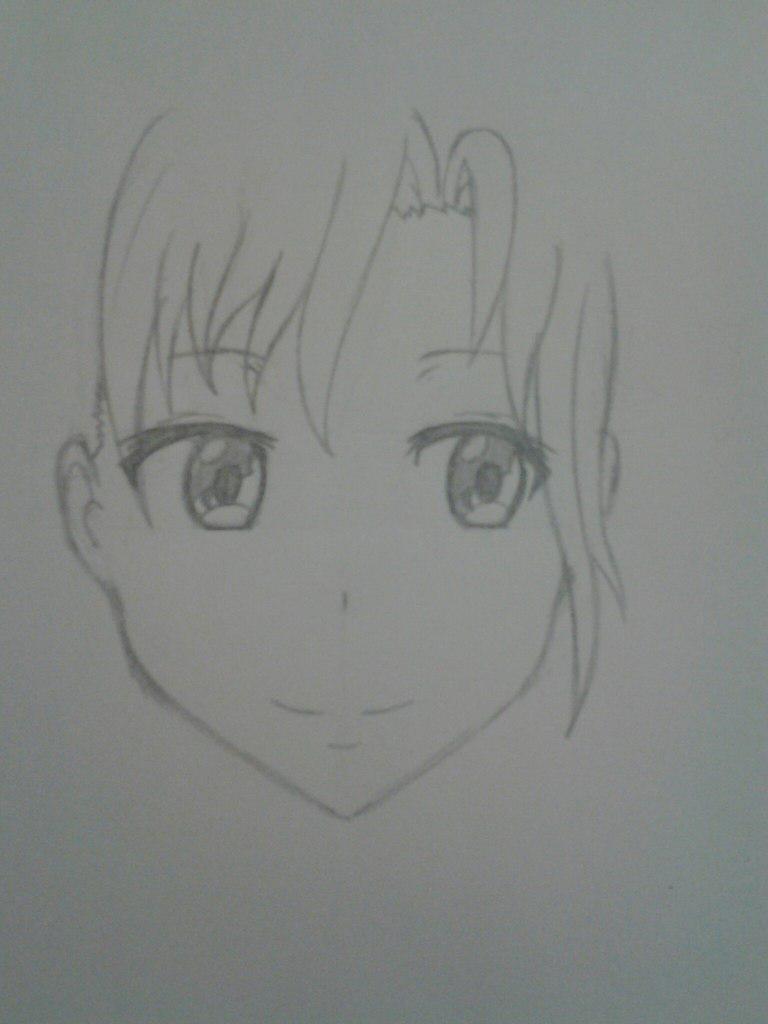 Как нарисовать аниме девушка кокетку простым карандашом - шаг 6