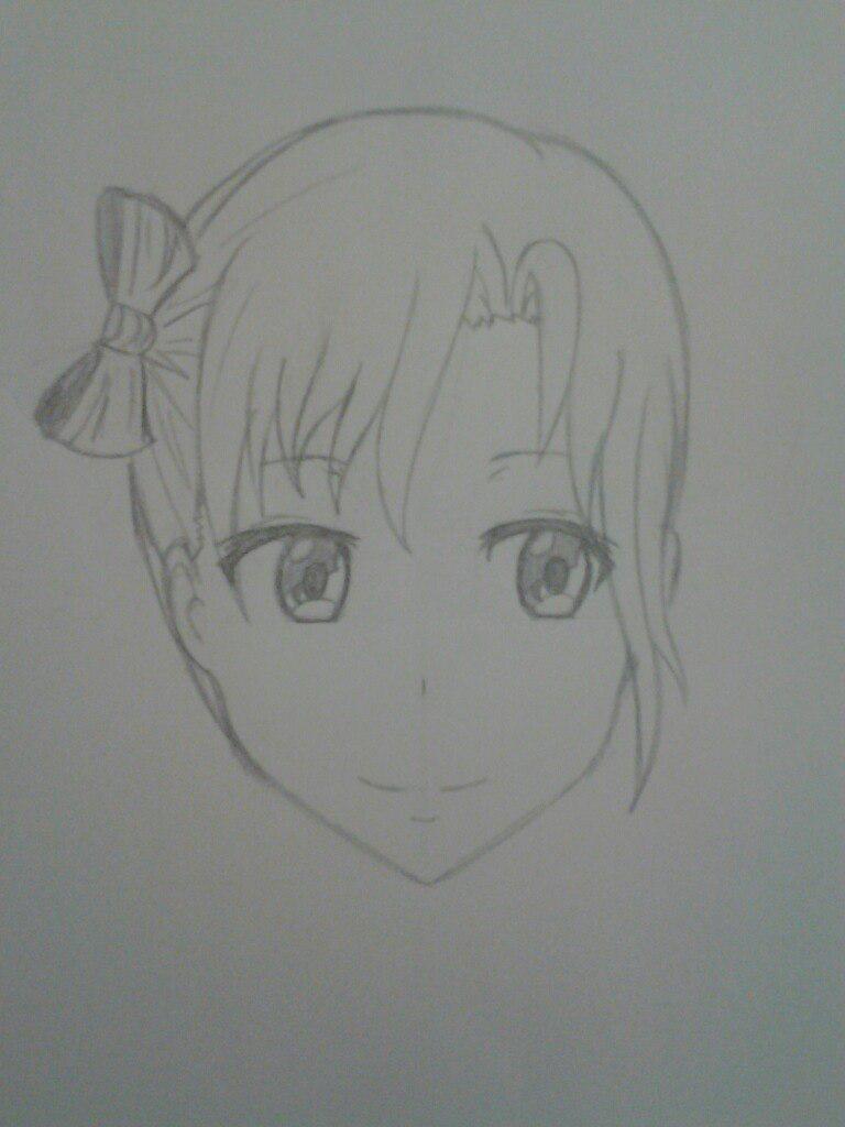 Как нарисовать аниме девушка кокетку простым карандашом - шаг 7