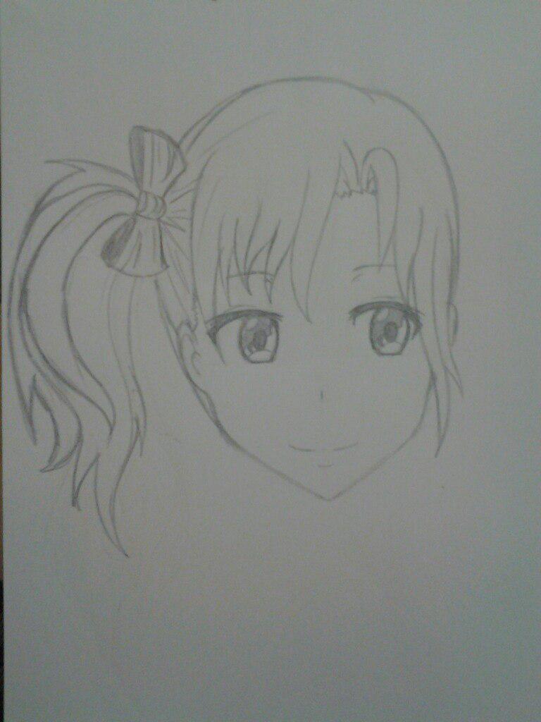 Как нарисовать аниме девушка кокетку простым карандашом - шаг 8