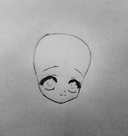 Рисуем аниме девушку ангела в новогодней одежде - шаг 2