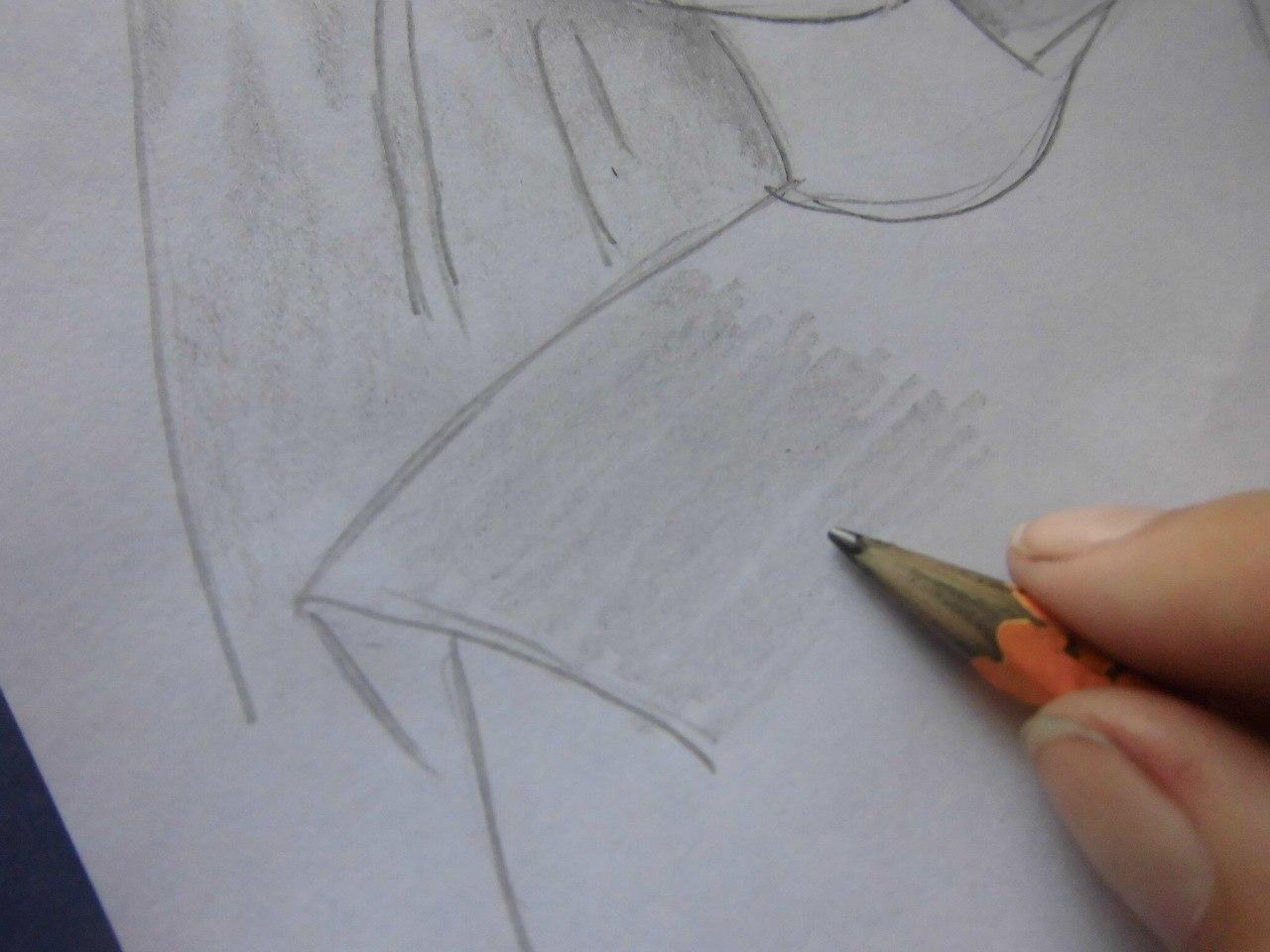 Рисуем красивую аниме девушку простым - шаг 10