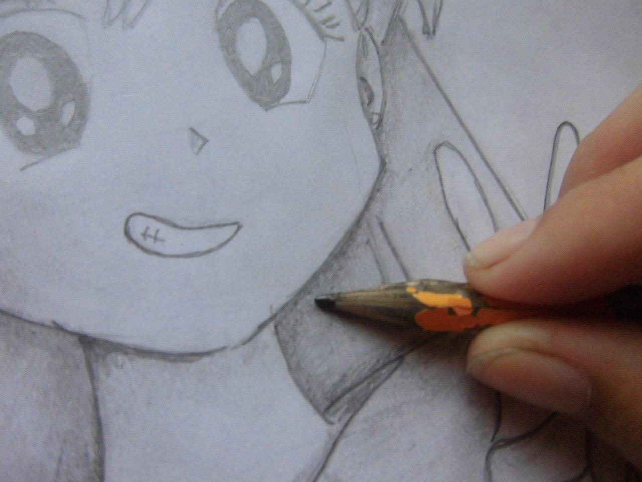 Рисуем красивую аниме девушку простым - фото 11