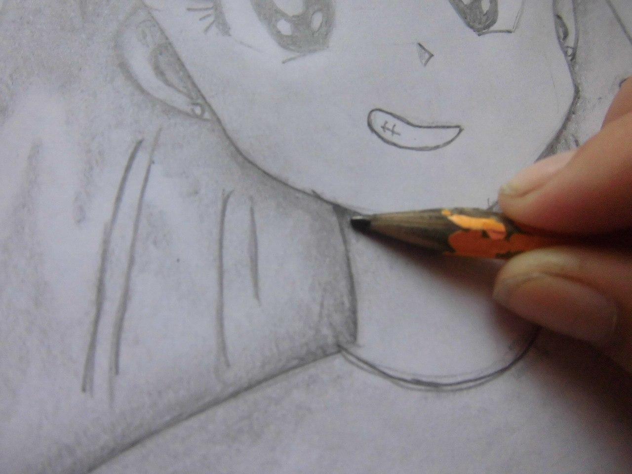 Рисуем красивую аниме девушку простым - шаг 12