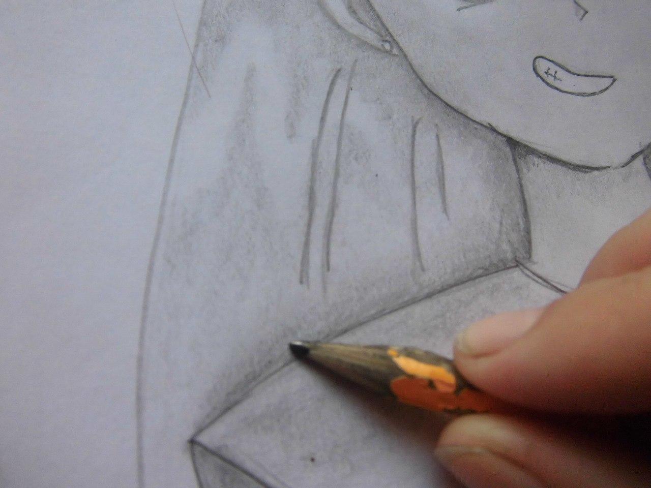 Рисуем красивую аниме девушку простым - фото 13