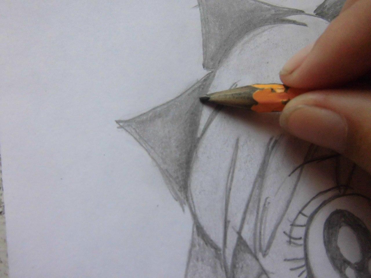 Рисуем красивую аниме девушку простым - шаг 14