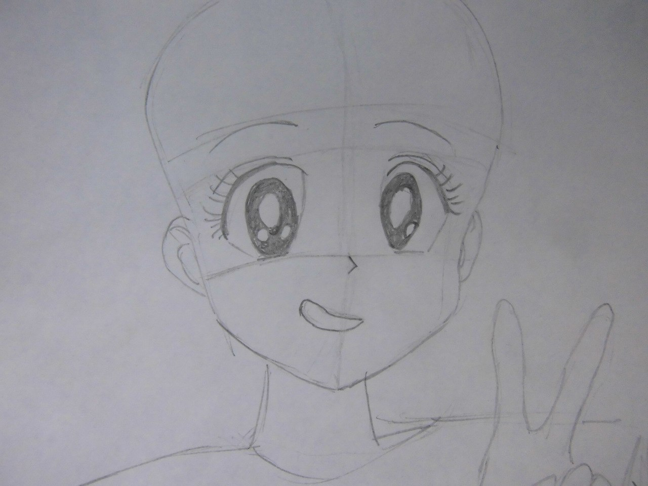 Рисуем красивую аниме девушку простым - фото 5