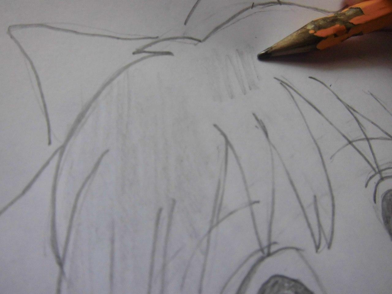 Рисуем красивую аниме девушку простым - шаг 7