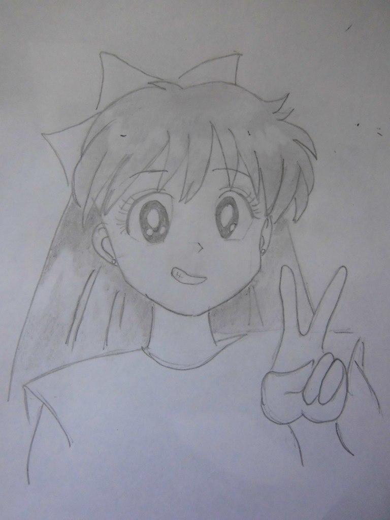 Рисуем красивую аниме девушку простым - фото 8