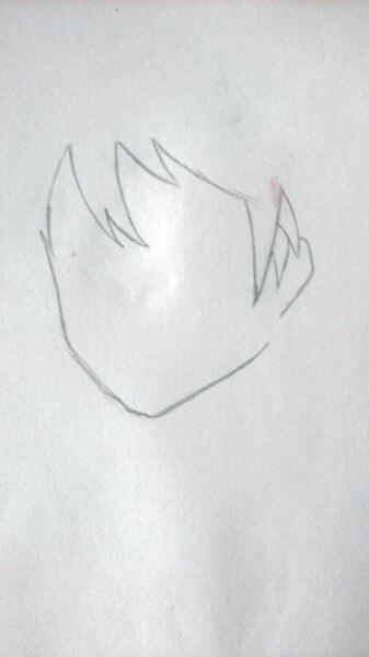Как нарисовать аниме девушку официантку цветными карандашами - шаг 1