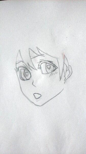 Как нарисовать аниме девушку официантку цветными карандашами - шаг 2