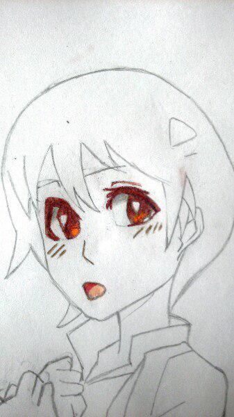 Как нарисовать аниме девушку официантку цветными карандашами - шаг 5