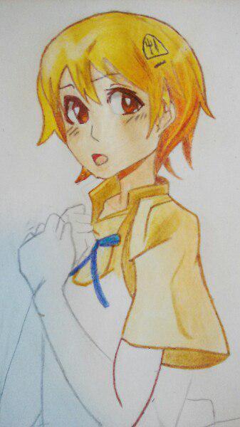 Как нарисовать аниме девушку официантку цветными карандашами - шаг 8