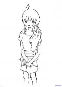 Фото аниме девушку