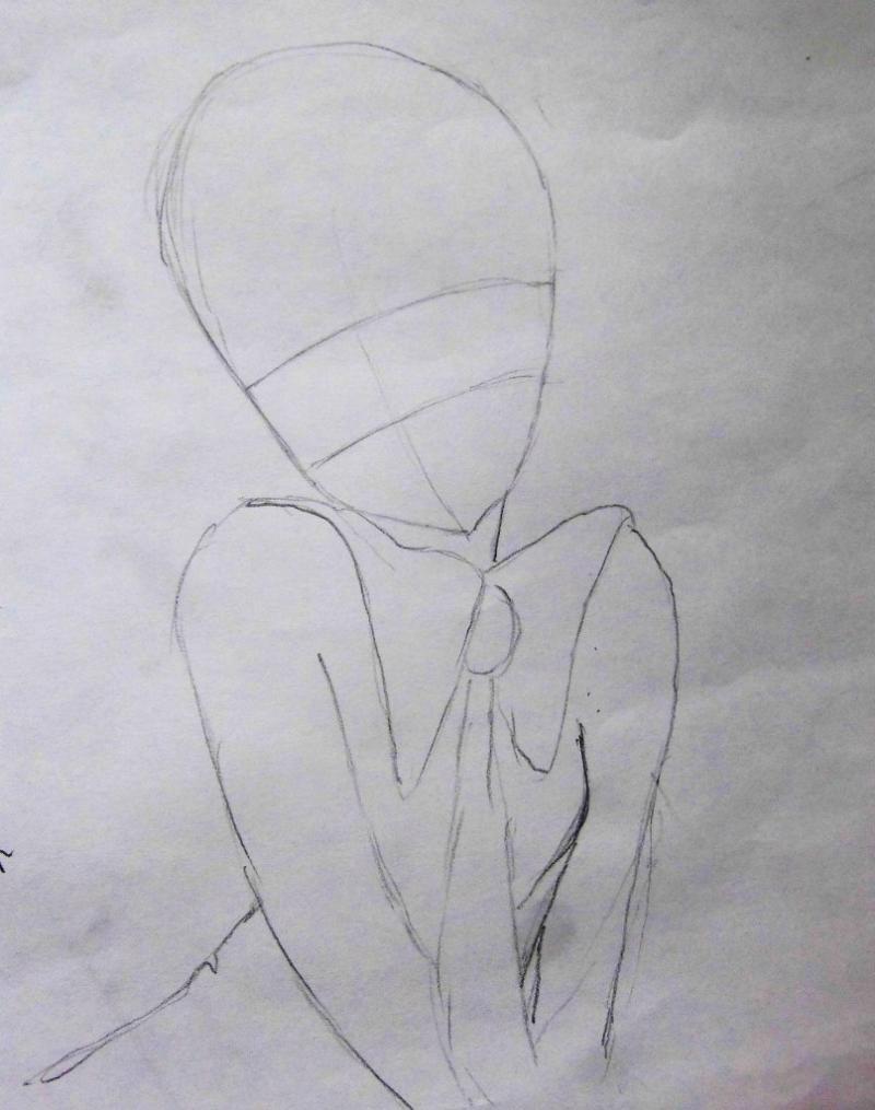 Рисуем аниме девушку с длинными волосами