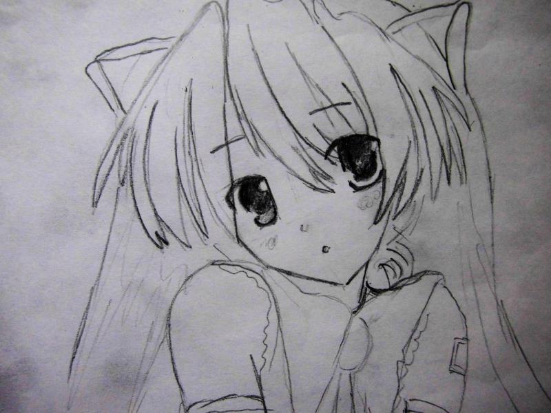 как рисовать аниме карандашом девушек: