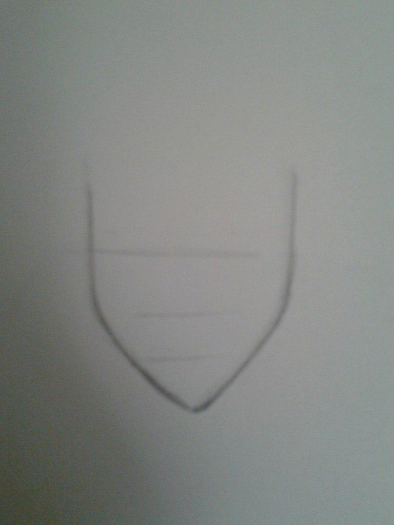 Как нарисовать аниме девушку с космическими волосами - шаг 1
