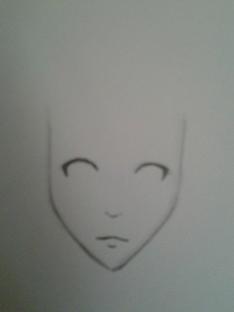 Как нарисовать аниме девушку с космическими волосами - шаг 2