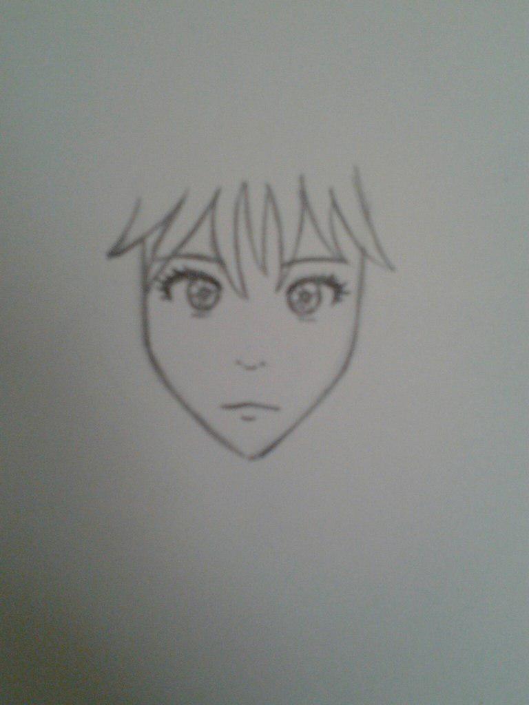 Как нарисовать аниме девушку с космическими волосами - шаг 3