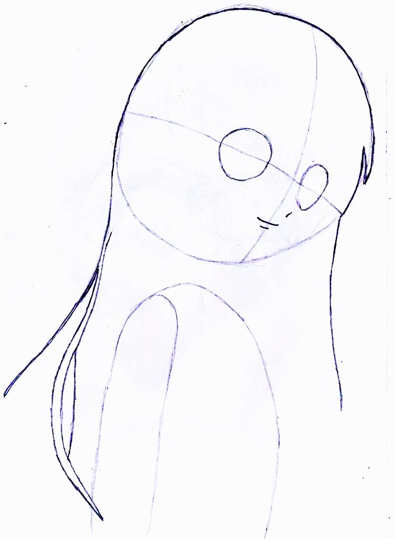 Как просто нарисовать красивую аниме девушку - фото 2