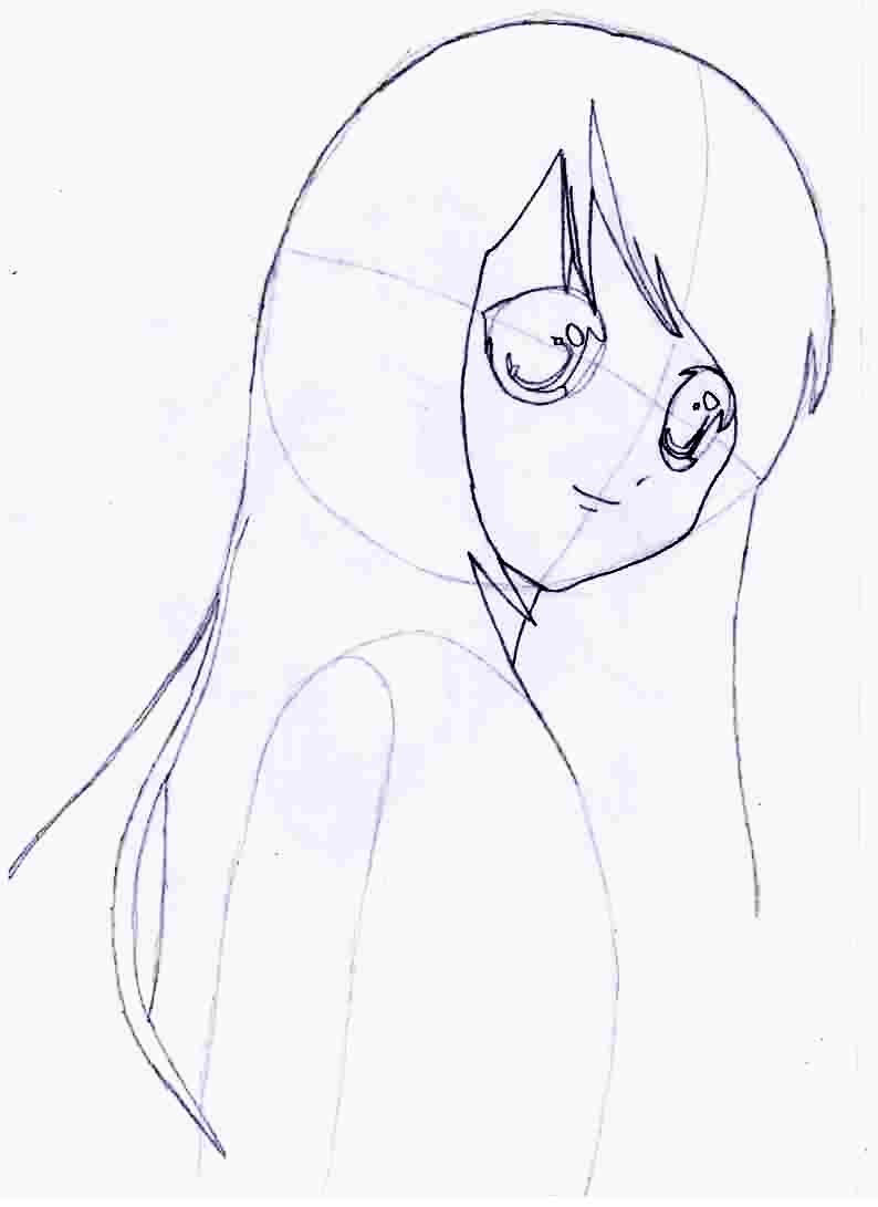 Как просто нарисовать красивую аниме девушку - фото 3