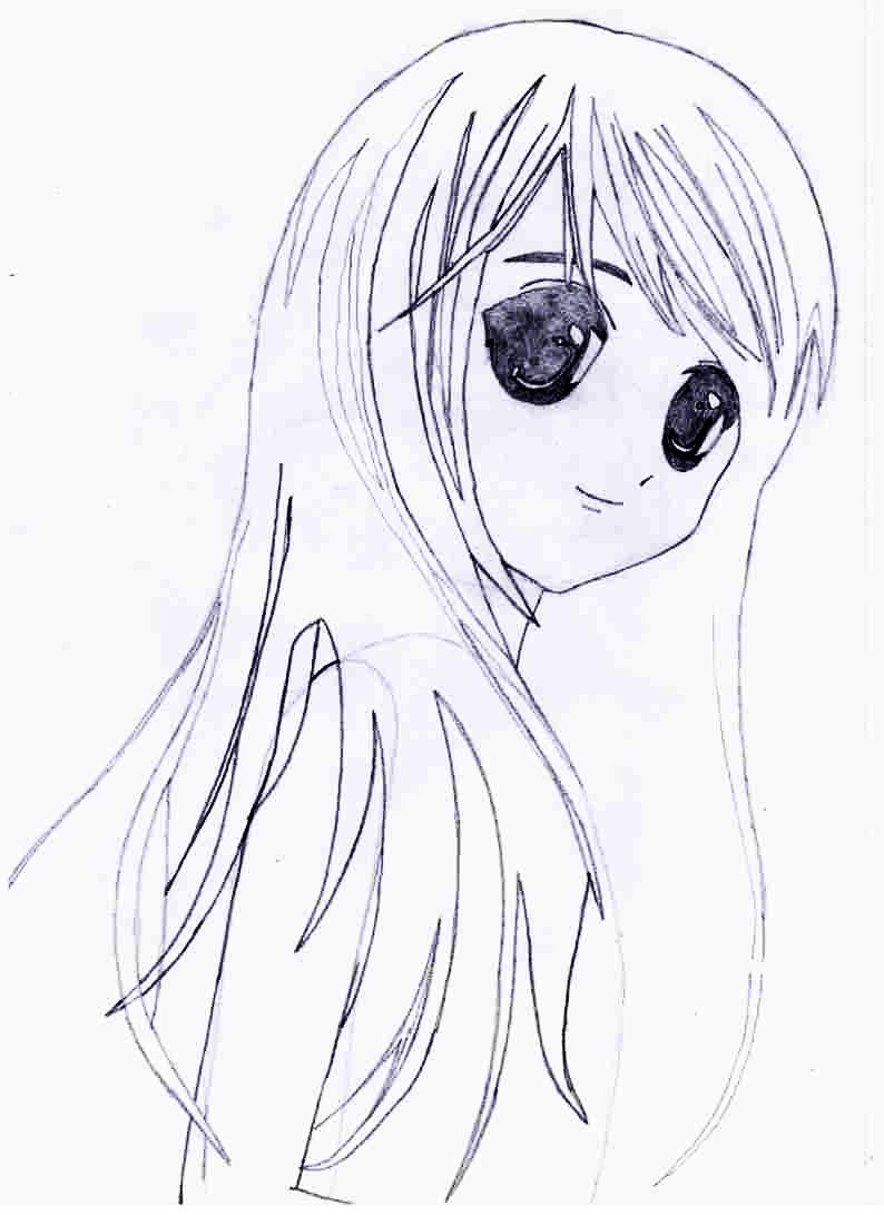 Как просто нарисовать красивую аниме девушку - фото 4