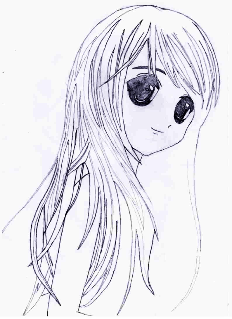 Как просто нарисовать красивую аниме девушку - фото 5