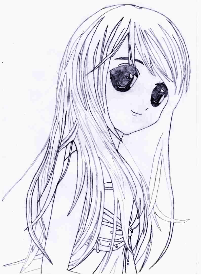 Как просто нарисовать красивую аниме девушку - фото 6