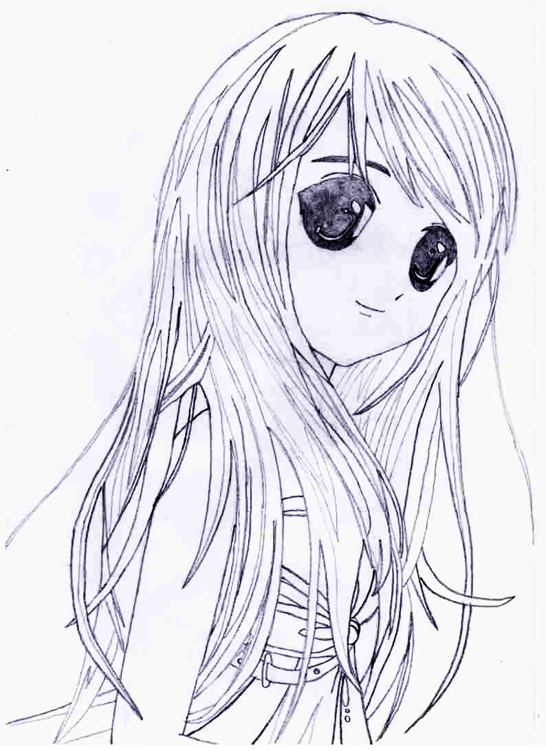 Как просто нарисовать красивую аниме девушку - фото 7