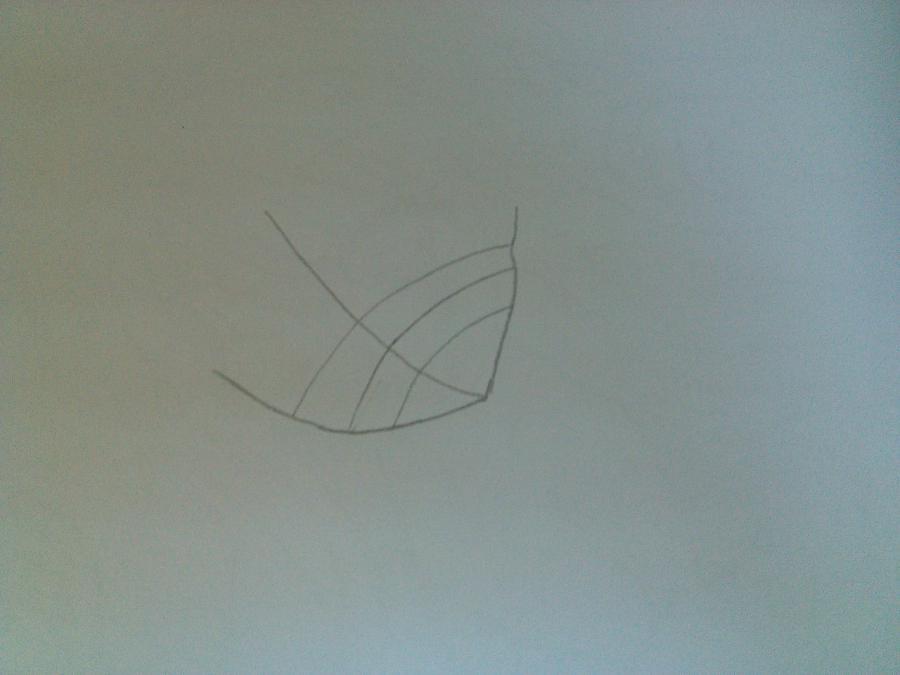 Рисуем аниме девушку в купальнике - шаг 1