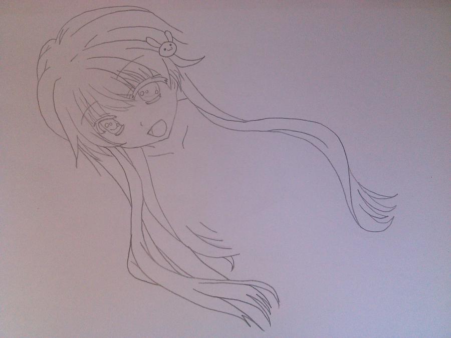 Рисуем аниме девушку в купальнике - шаг 5
