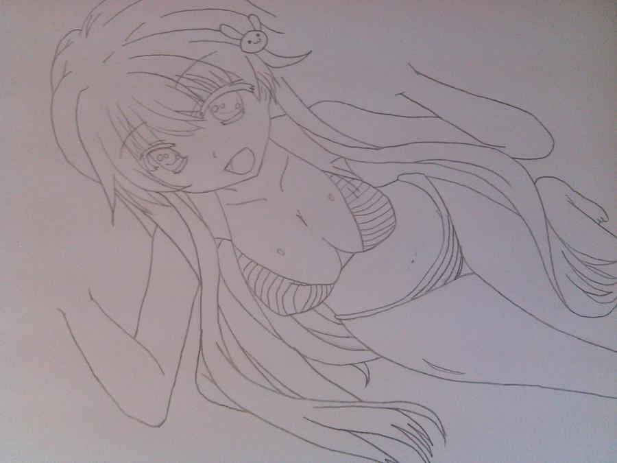 Рисуем аниме девушку в купальнике - шаг 8