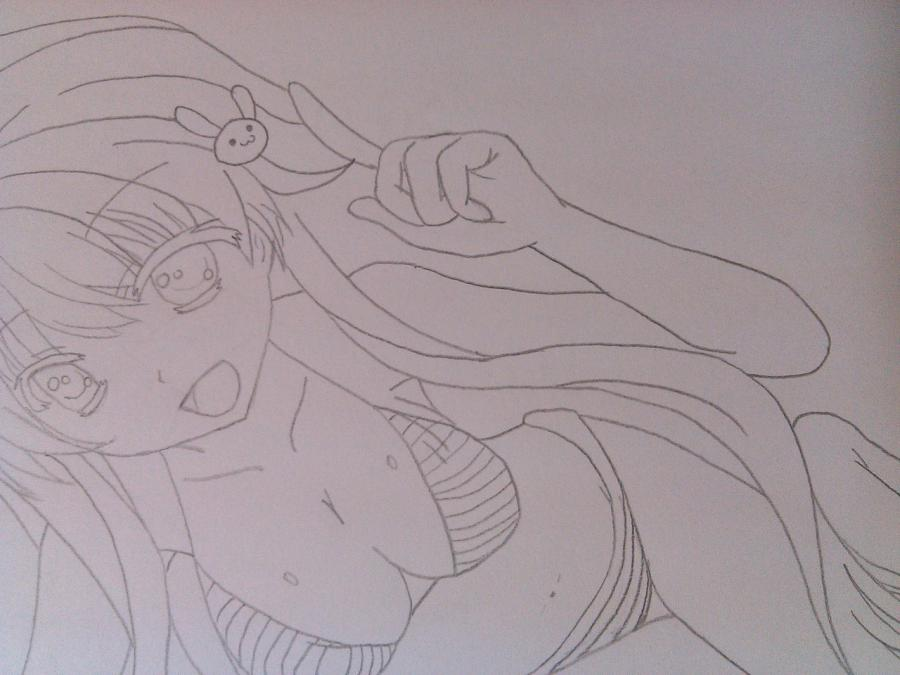 Рисуем аниме девушку в купальнике - шаг 9
