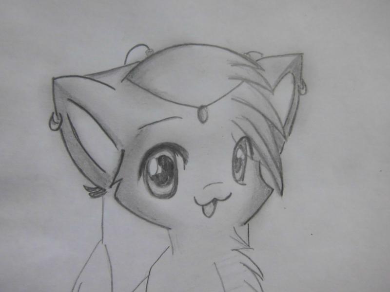 Рисуем аниме кошку - шаг 5
