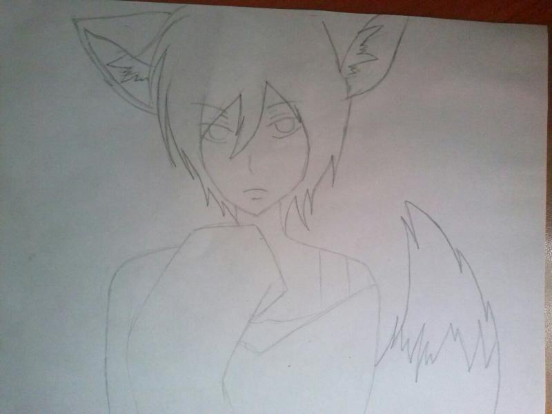 Рисуем аниме парня лиса