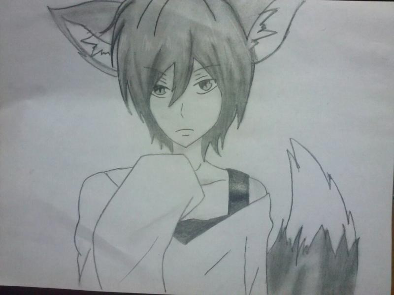 Как нарисовать аниме парня лиса карандашом поэтапно