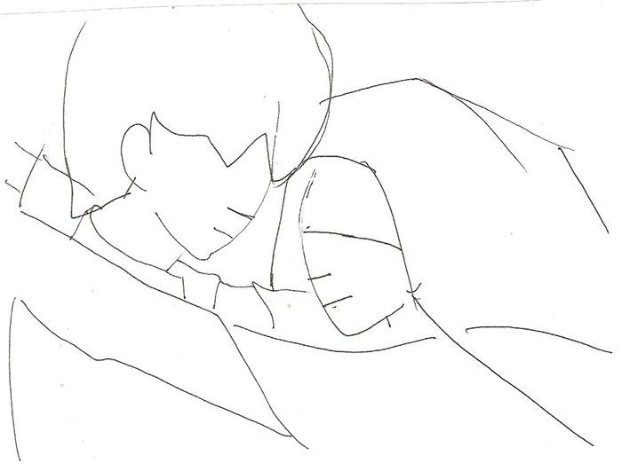 Рисуем влюбленную аниме пару - шаг 2