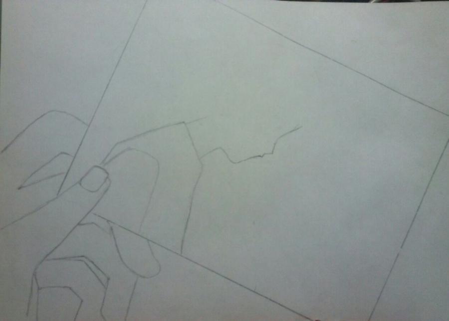 Рисуем аниме пару на фото - шаг 1