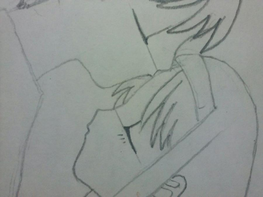 Рисуем аниме пару на фото - шаг 4