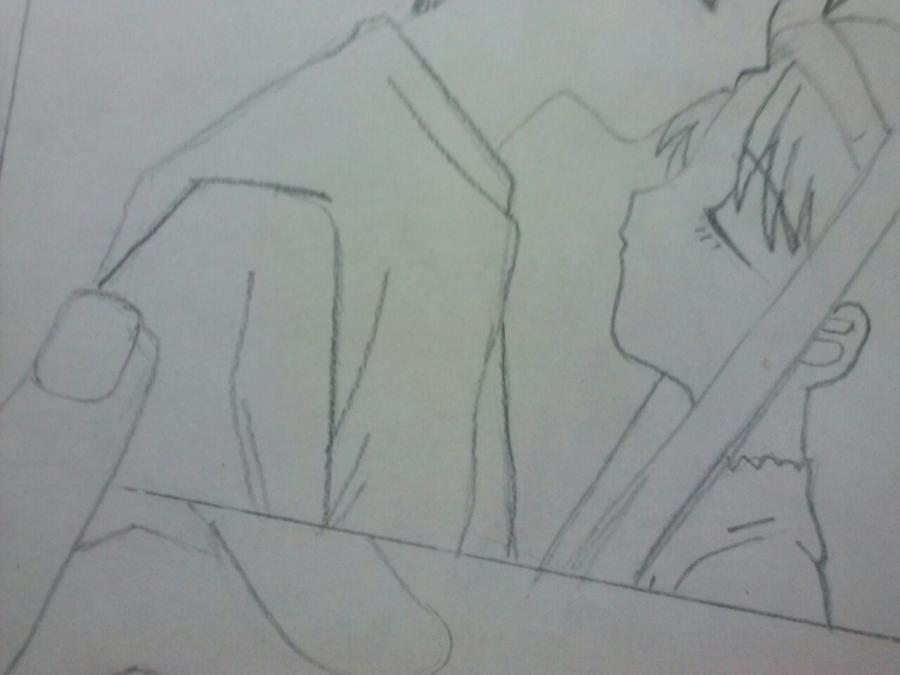 Рисуем аниме пару на фото - шаг 5