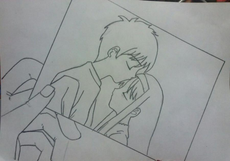 Рисуем аниме пару на фото - шаг 6