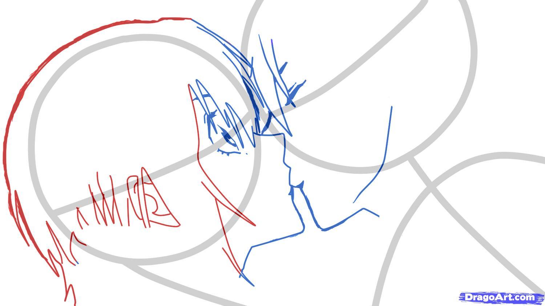 Рисуем аниме поцелуй для начинающих - шаг 4