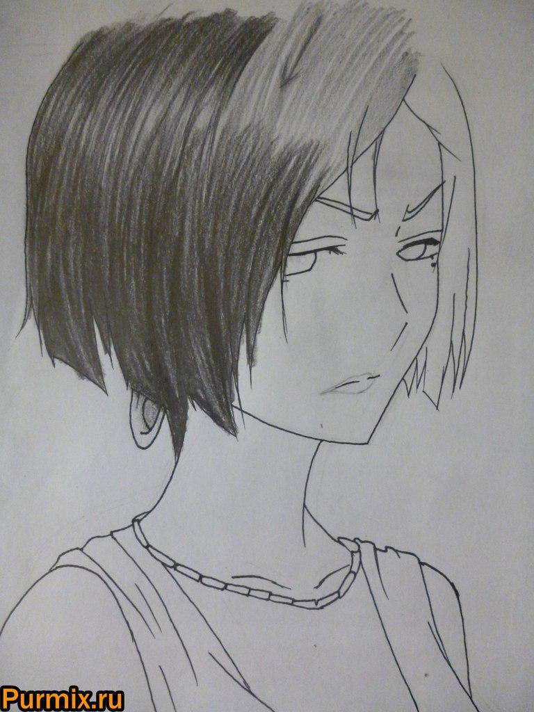 Рисуем Арию Санка из аниме Санка Рэа