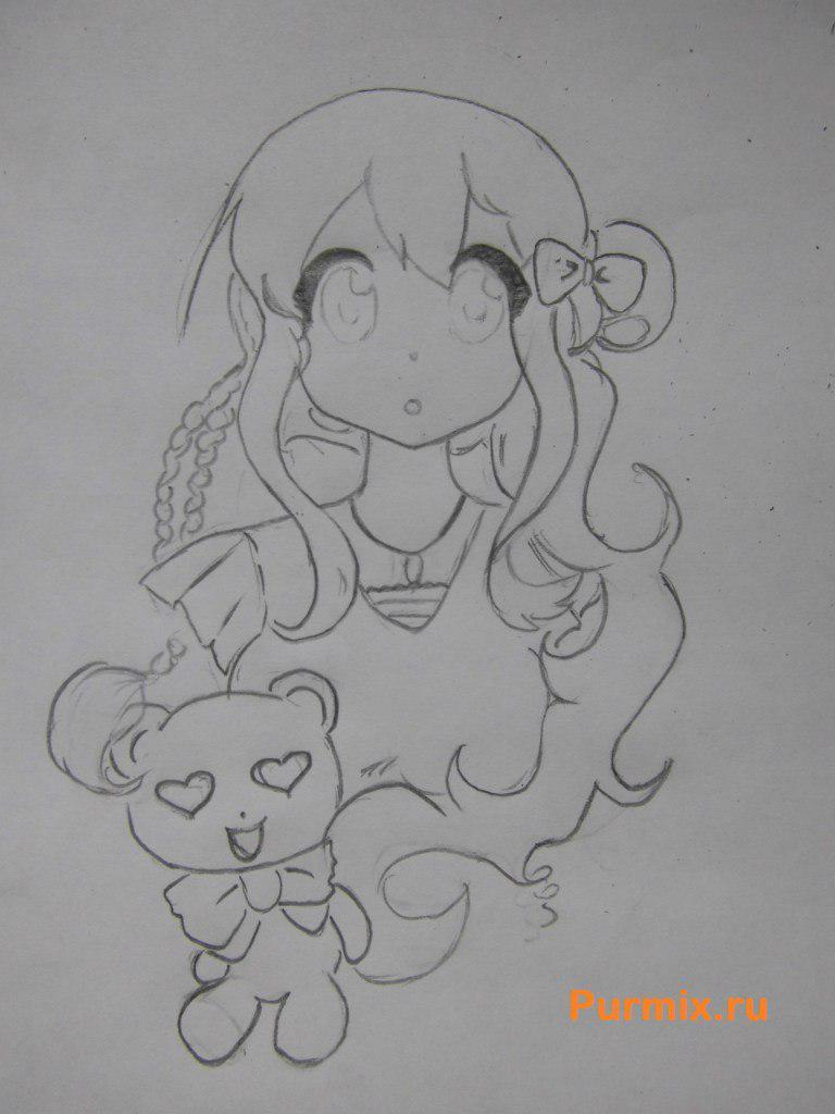 Как нарисовать арт Цумуги Котобуки из аниме K-on